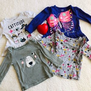 Carters long sleeve top bundle